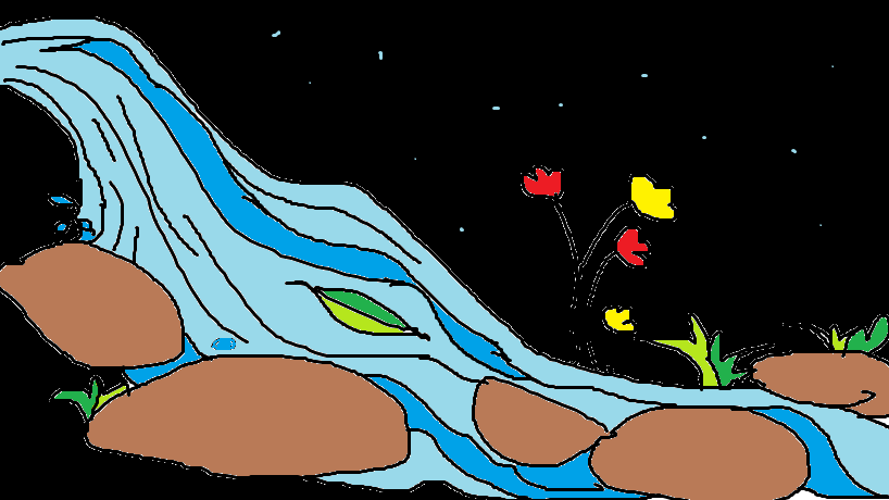 A-leaf-and-a-stream